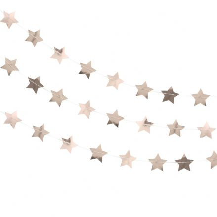 Rose Gold Star Garland / Backdrop